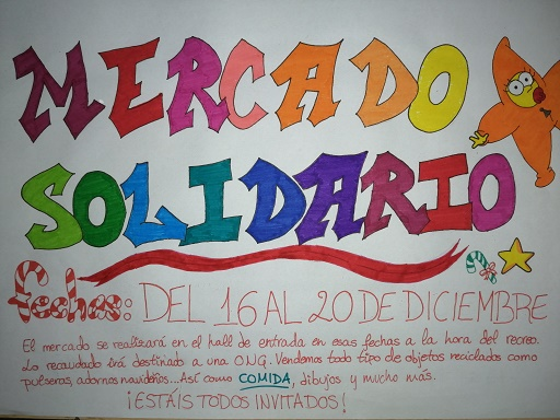Cartel Mercado solidario peque